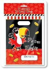20 empty PIRATE PARTY LOOT BAGS Parrot birthday printed DESIGN children boys