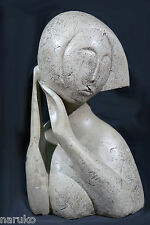 ORIGINAL STONE CARVING ATTRIBUTED TO FAMOUS RUSSIAN/FRENCH ARTIST OSSIP ZADKINE
