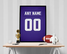 Minnesota Vikings Jersey Poster - Personalized Name & Number FREE US SHIPPING