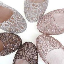 Womens Bling Bling Ballet Flats Hollow Out Plastic Dance Beach Shoes Size 5-9 US