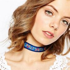 Multicolor Flower Jewelry Ethnic Necklace Embroidery Bohemian Choker