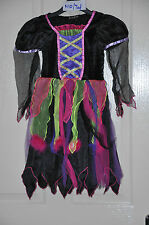 WITCH / MAIDEN girl's fancy dress costume by George, age 5/6 yrs, ht 110-116cm