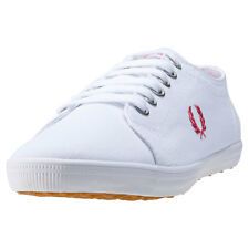 Fred Perry Kingston Twill Womens Trainers White New Shoes