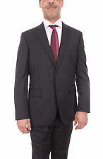 Mens Napoli Black Pinstriped Half Canvassed Super 180s Wool Suit