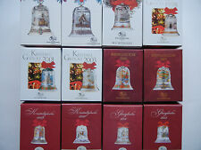 Hutschenreuther Christmas bell Glass Crystal bells down 1991 - INDIVIDUAL SALE