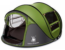 3-4 Person Camping Pop Up Tent Waterproof Hydraulic Automatic Outdoor Hiking Ten