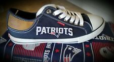 New England Patriots Levis Canvas Men's Sneakers