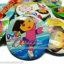 Free shipping Dora Tin Buttons pins badges,30MM,Round Brooch Badge,cartoon badge