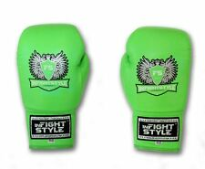 KickBoxing Sparring Muay Thai Traing Gloves Laced uo Boxing Gloves Blue