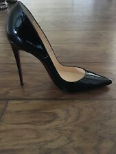 NIB CHRISTIAN LOUBOUTIN Black Patent Leather SO KATE Pumps Sz 40