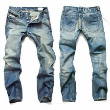 New Ripped Men Jeans Frayed Destroyed Denim Jeans Casual Skinny Holesdenim Pants