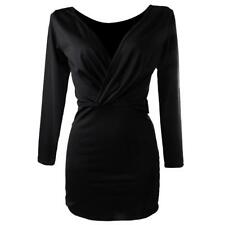Sexy Women V Neck Backless Evening Party Cocktail Dress Clubwear Black Dresses