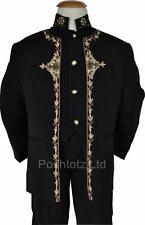 Boys Suits 3pc Prince Suit Black Gold Wedding Pageboy suits 12 mths - 9 yrs
