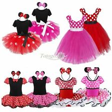 Toddler Baby Girl Kid Minnie Mouse Costume Party Outfit Xmas Fancy Tutu Dress up