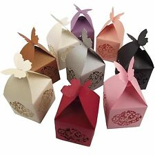 Butterfly Top Laser Favour Boxes! Wedding Filigree Cut Large Premium