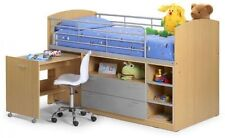 Single Cabin Bed Mid-Sleeper Storage Drawer With Pull Out Desk For Dtudying
