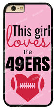 Chic Girl Love San Francisco 49ers Pink Hard Case For iPhone /Samsung/ Sony/ LG
