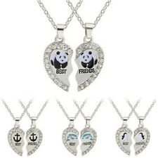 1 Set Necklace Best Friends Silver-plated Necklace Friendship Fashion Jewelry GT