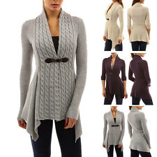 New Womens Long Sleeve Cardigan Sweater Ladies Casual Knitted Outwear Coat Tops