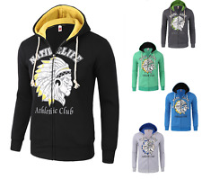 Men's Hoodies 2017 Fashion Indians Print Zipper Hooded Sweatshirt Casual Jacket