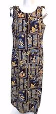 Women's Navy Blue Disney Cruise Mickey & Pals Hawaiian Tropical Dress Medium