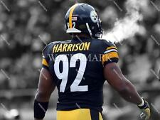 RY126 James Harrison Pittsburgh Steelers Cold Breath 8X10 11x14 Spotlight Photo