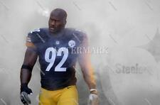 RY127 James Harrison Pittsburgh Steelers Enters Field 8X10 11x14 Spotlight Photo