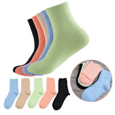 5 Pairs Womens Ladies Casual Cotton Socks Colorful Sports Ankle Soft Warm Socks