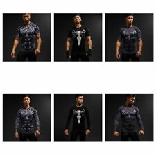 Spiderman Men Gym Sport Superhero Compression T-shirt Cosplay Cycling Fit Tops