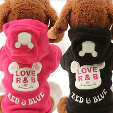 Small Dog Pet Clothes Cute Cartoon Bear Hoodie Warm Sweater Puppy Coat Apparel