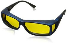 Cocoons Wide Line ML Rectangular Polarized Sunglasses,Ink Frame & Yellow Lens,63