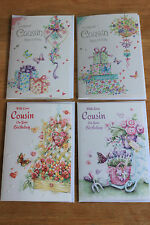 Cousin Birthday Card - Various Floral Designs