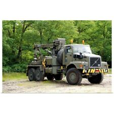 Poster Print Wall Art entitled Volvo N10 truck crane of the Belgian Army
