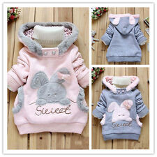 Baby Toddler Girls Outerwear Hooded Coats Winter Jacket Kids Cute Warm Clothing