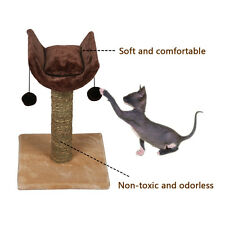 New Cats Kitten Tree Bed Scratch Climbing  Furniture Coffee Brown Play Toy