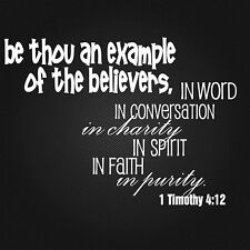BELIEVERS Scripture quote 1 Timothy 4:12 vinyl wall sticker saying bible decal