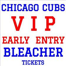 CHICAGO CUBS vs PHILLIES · MONDAY MAY 1 · VIP EARLY ADMISSION BLEACHER TICKETS