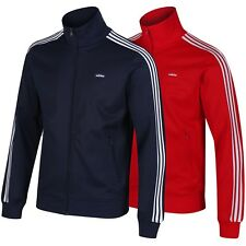 adidas ORIGINALS BECKENBAUER TRACK TOP RED NAVY 3 STRIPES FOOTBALL BNWT S M L XL