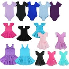 Girls Toddler Gymnastics Leotard Ballet Dress Tutu Skirt DanceWear Costume 2-14Y