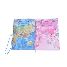 PU Leather World Map Passport Holder Travel Card Case Document Cover  SN