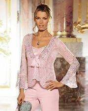 NEW LADIES CHANGES BY TOGETHER SEQUINNED BEADED JACKET & CAMISOLE SIZE 14