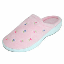 New Isotoner Women's Extra Small Terry Embroidered Clog Slippers