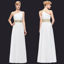 Long Lace Evening Formal Party Cocktail Dress Bridesmaid Prom One Shoulder Gown
