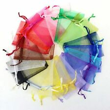 "100PCS 2.7'' x 3.5"" Jewelry Candy Organza Pouch Gift Bags Wedding Favor Party"