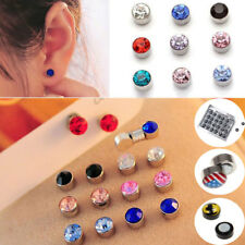 Fashion Earrings Crystal Magnetic Stud 12 Pairs Mix Colors Wholesale Size Choice