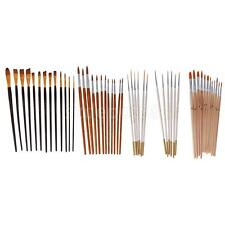 Nylon Hair Flat Tip Painting Brushes Set Artist Watercolor Oil Drawing Pens