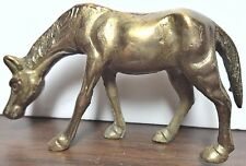 """Miniature Brass Horse 2 1/2"""" high by 4 1/2"""" long Collectable Figurine"""