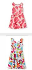 Children's Place Photo-Real Watermelon/Popcicle Pink Skater Dress Stretch/Scuba