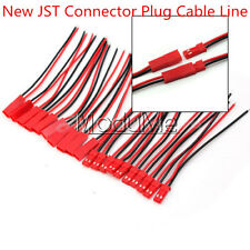 5/10/20 Pairs 100mm JST Connector Plug Cable Line Male+Female RC Lipo Battery MO