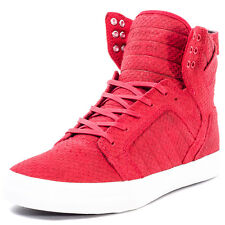 Supra Skytop Hi Mens Trainers Red White New Shoes